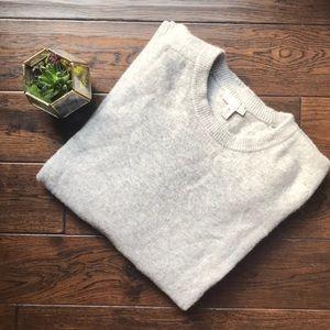 GAP mens XXL Tall lambswool Gray sweater EUC